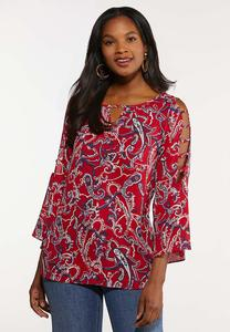 Plus Size Americana Paisley Top
