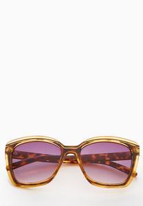 Tortoise Lucite Square Sunglasses