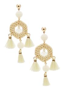 Raffia Dream Catcher Earrings