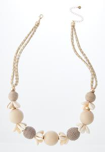 Puka Shell And Bead Necklace