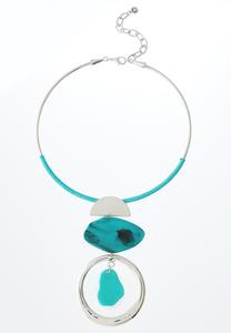Turquoise Wire Pendant Necklace