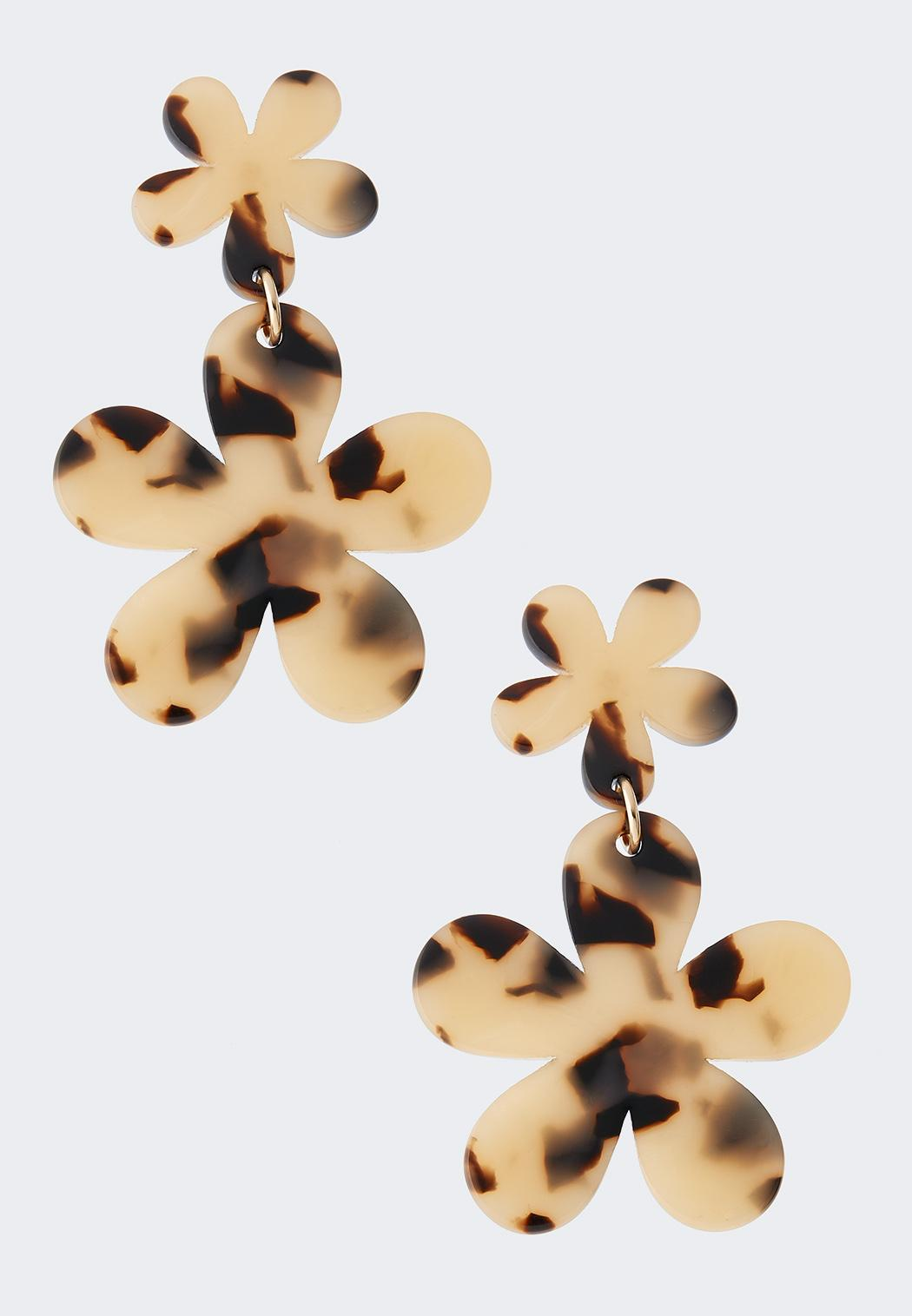Tortoise Flower Earrings