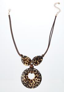Animal Print Pendant Necklace