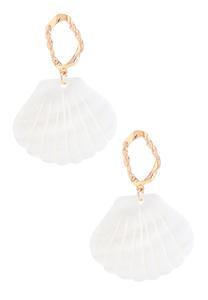 Fanned Shell Earrings