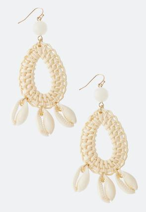 Raffia Shell Earrings