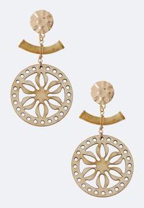 Bamboo Wood Petal Earrings