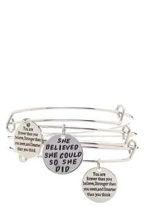 She Believed Bangle Set