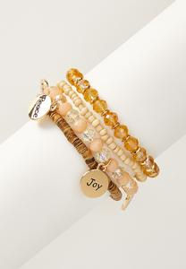 Inspirational Disc Bracelet Set