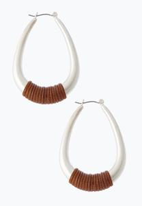 Cord Wrap Hoop Earrings
