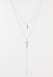 Layered Inspirational Y-Necklace