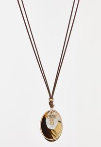 Lucite Faith Cord Necklace