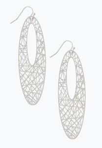 Laser Cut Oval Earrings
