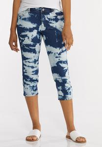 Cropped Bleached Jeans