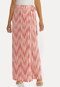 Plus Size Tie Waist Maxi Skirt