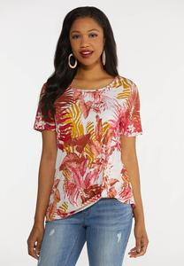 Plus Size Twisted Island Tee