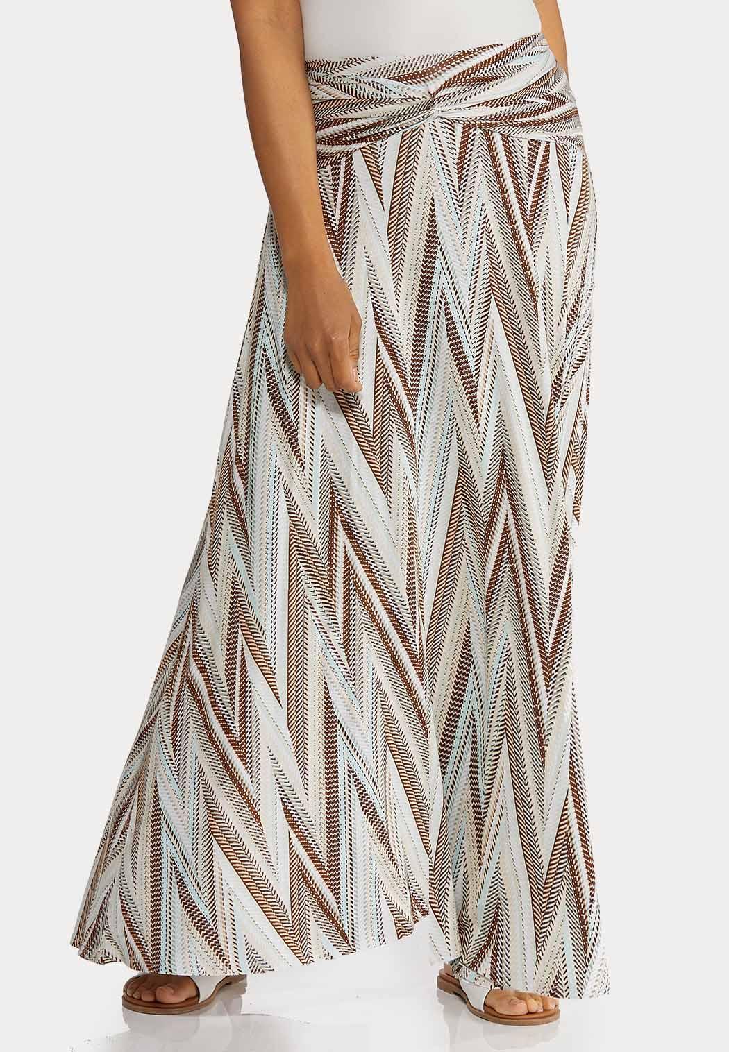 Petite Chevron Maxi Skirt