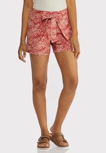Tribal Tie Front Shorts