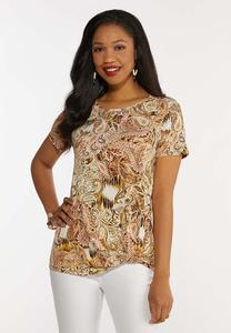 Plus Size Paisley With A Twist Top