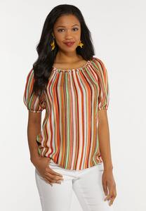 Citrus Stripe Top