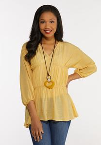Tiered Balloon Sleeve Top