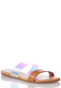 Croc Lucite Strap Sandals