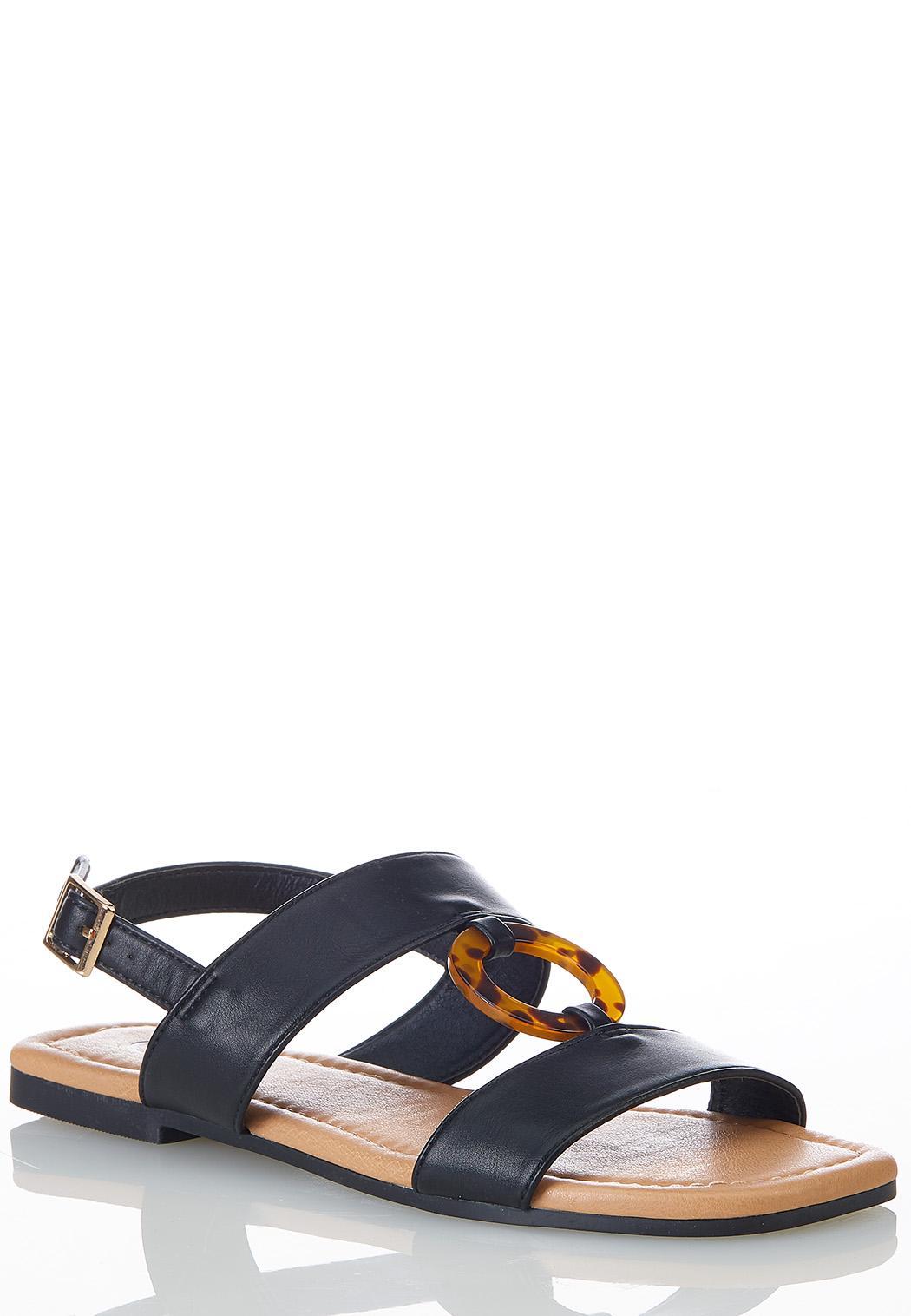 Tort Ring Slingback Sandals