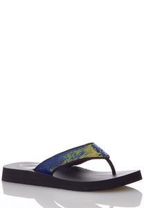 Sequin Strap Flip Flops