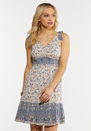 Plus Size Floral Babydoll Dress