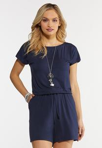 Plus Size Navy Romper