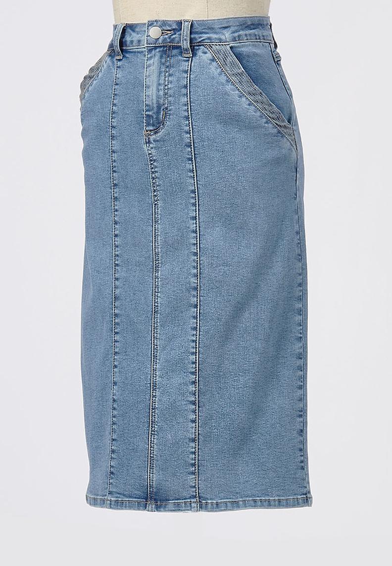 Denim Utility Skirt