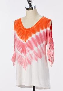 Plus Size Sunset Tie Dye Top
