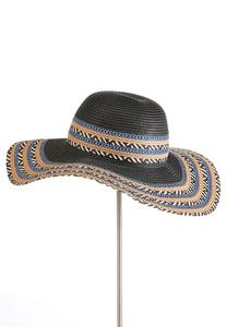 Tribal Straw Floppy Hat