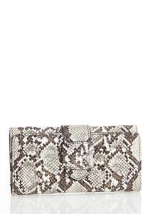Snakeskin Flap Wallet
