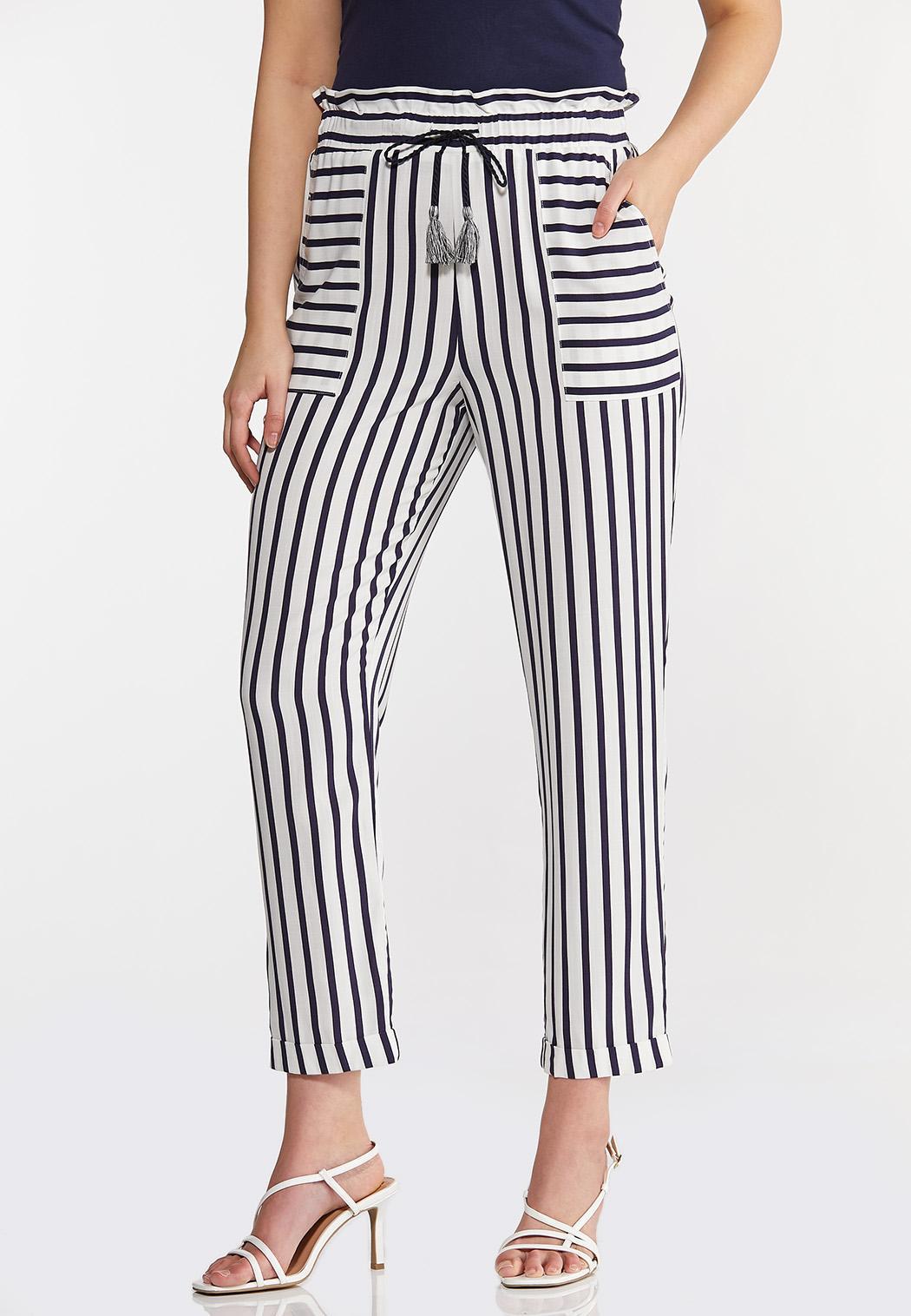 Stripe Tassel Tie Pants