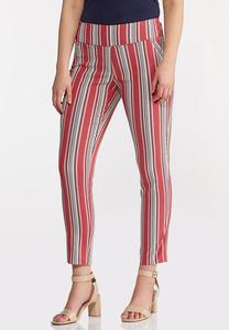 Stripe Ankle Pants