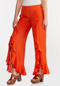 Orange Ruffled Pants