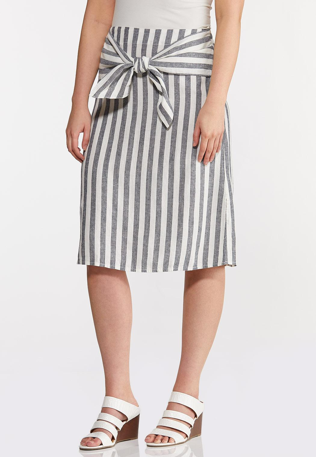 Tie Front Linen Skirt