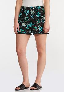 Gauzy Palm Tree Shorts