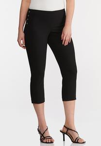 Metal Snap Cropped Pants