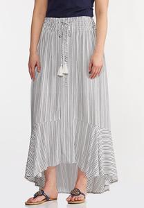 Breezy Striped Maxi Skirt