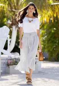 Breezy Striped Maxi Skirt