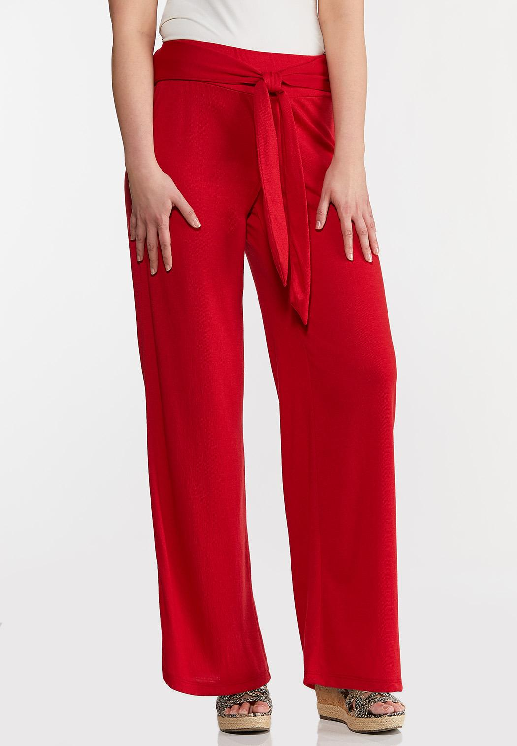 Red Gauze Pants