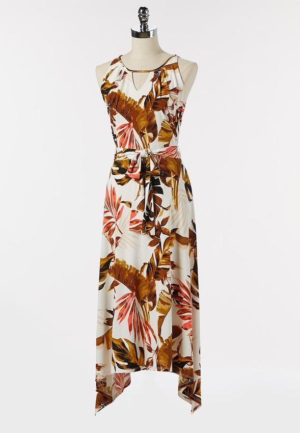 Tropical Floral Sharkbite Dress
