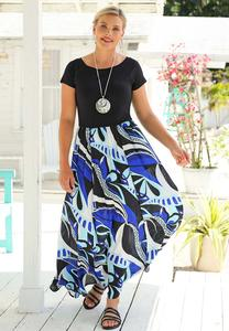 Petite Graphic Print Maxi Dress