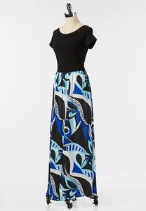 Plus Size Graphic Print Maxi Dress