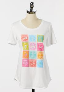 Plus Size Colorful Zodiac Tee