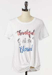 Plus Size Inspirational Knotted Tee