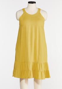 Plus Size Linen Swing Dress