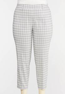 Plus Size Windowpane Pants