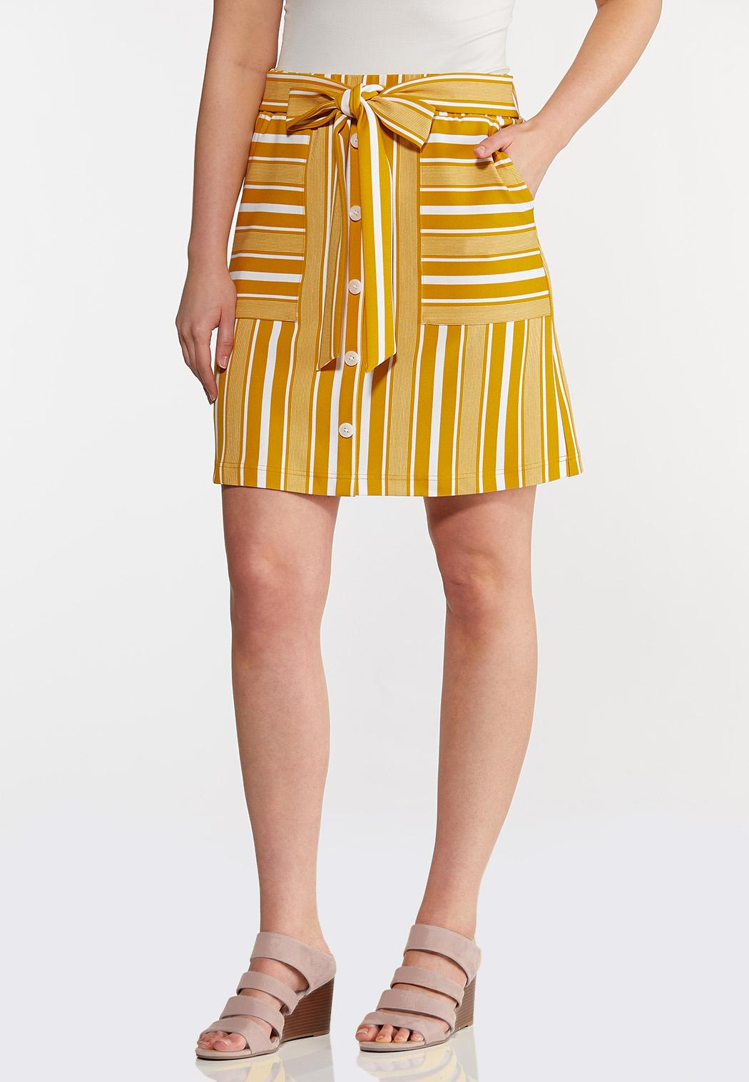 Plus Size Stripe Weekend Mini Skirt
